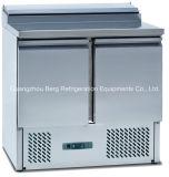 MarmorspitzenEdelstahl-Pizza-Vorbereitungs-Tisch-Kühlraum