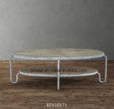 거실 중심 가구 탁자, 목제 상단을%s 가진 금속 커피용 탁자