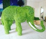 Scultura artificiale della pianta del Topiary dell'erba del giardino del Figurine artificiale degli animali