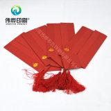 Personalizado con la tarjeta de invitación de la boda de la alta calidad de impresión Rojo