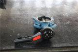 Алюминиевой клапан-бабочка руки управляемая рукояткой при одобренный ISO Ce (D71X-10/16)