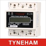 Счетчик энергии одиночной фазы DIN серии Dds-5 установленный Rial электронный
