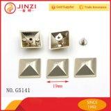 Rimas de pirâmide decorativas em liga de zinco de diferentes cores