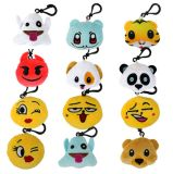 Mini felpa animal Keychain de Emoji para el morral