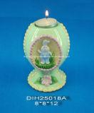 Supporto di candela di ceramica decorativo di Pasqua Tealight