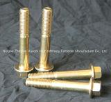 Hex Kopf-Schrauben-Kohlenstoffstahl-Gewinde-Schraube des Flansch-DIN6921 aller Grad