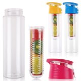 Bottiglie di acqua di plastica su ordinazione di Infuser del limone della frutta (BPA liberano)