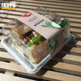 Unbleached контейнер еды сахарныйа тростник пульпы для еды салата горячей холодной