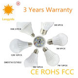 C.P. élevée élevée de l'ampoule E27 B22 d'éclairage LED du lumen 3W