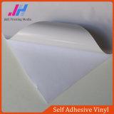 Collant blanc détachable de vinyle de colle