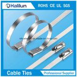 cinta plástica inoxidável do fechamento da esfera de aço de 4*250mm em empacotar fios