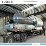Nova máquina de reciclagem de pneus de lixo Obtendo óleo de pirólise