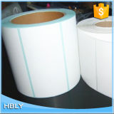 Introduzir o molde que etiqueta o papel sintético para o frasco do detergente líquido da lavanderia