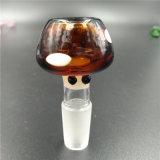 Tazones de fuente de cristal del tabaco de la seta 14mm/18m m para las explosiones que fuman el tubo de agua