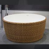 Il marmo personalizzato pagina di figura rotonda di disegno gradice la vasca da bagno indipendente del reticolo