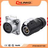 Cnlinko Lp20 Alimentação do Conector de 2 pinos com IP65/IP67 PBT ficha automática de material impermeável