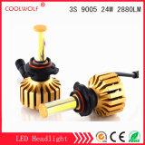 Faro delle lampadine del faro dell'automobile LED di vendita diretta 3s 9005 24W 2880lm LED della fabbrica con il prezzo competitivo