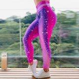 Uma bolha de cintura elevada das mulheres personalizado Imprimir Exercício de cintura elevada Slim Calças de ioga