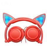 A luz de LED com fio Cat fones de ouvido em forma de orelha