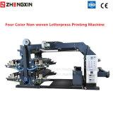 De niet Geweven de vier-Kleur van Flexography van de Stof Machine van de Druk (zxh-C41200)