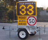 레이다 속도 표시 교통 표지 도로 안전 교통 정리 소통량 관리