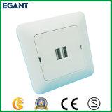 Alta qualidade 2 soquetes elétricos do USB das portas