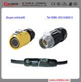 12A 500Vのコネクターをワイヤーで縛る7pin電線のコネクターかワイヤー
