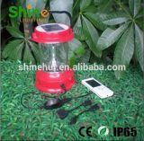 Lanterna LED de emergência Lanterna solar com carga móvel
