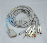 Compatible Nihon Kohden EKG Cable One-Piece 10 Leadwires 3.0plug