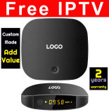 L'IPTV T2 libre fait sur mesure avec Smart DIY Launcher et construire la Peau DIY DK Android Android6.0 IPTV Boîtes Live TV Quad Core 4K2K 10 bits H265 1GB 8GO