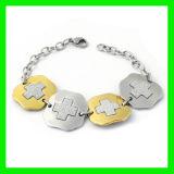Rhinestone Bracelete cruzada