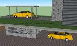Два автомобиля используйте подъемник автостоянка и гараж для платформы