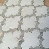Mosaico de mármol Waterjet de la venta del mosaico de la linterna de la piedra blanca caliente de la dimensión de una variable