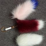 Anello chiave della pelliccia di Fox del Faux di alta qualità POM per le donne
