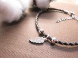 Ультрамодный кожаный диамант браслета подгоняет привесные браслеты для женщин