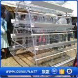 Galvanizado en caliente de la jaula de la capa de huevos de aves de corral con valla de fábrica