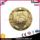 La aduana barata se divierte concesiones del medallón del baloncesto de los artes del metal de la medalla