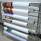 Collant auto-adhésif amovible blanc lustré élevé de vinyle