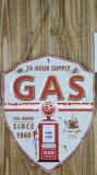 Il disegno della stazione del petrolio e del gas imprime la piastra della decorazione della parete del metallo di stampa