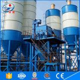 200t aparafusou o silo do cimento usado na planta de mistura concreta