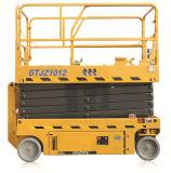 10m de plataforma de trabalho Antena Tesoura 320kg de peso de carregamento, construção do veículo