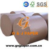 Papel recicl branco do Newsprint no rolo para a impressão dos jornais