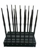 35W GSM/3G/4G Cellphone, GPS, de Stoorzender van het Signaal van de volledig-Band WiFi/Bluetooth/Lojack; 14 Stoorzender van het Signaal van de Telefoon van de Cel van de antenne de Draadloze/Blocker 20-70meters
