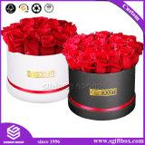 Rectángulo redondo de la flor del nuevo Rose de la aduana de la flor del OEM de regalo del rectángulo sombrero del tubo