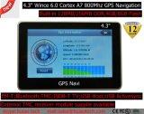 """"""" Sistema di percorso portatile di GPS dell'automobile a buon mercato 4.3 con 128MB RDT, 4GB, FM, BT, Tmc, ISDB-T TV, percorso G-4306 di GPS del programma di GPS"""