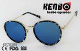 La mode des lunettes de soleil avec lentille ronde et de Golden Rim PK70385