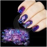 Galaxy нерегулярных хлопья Glitters Paillette пыли для украшения ногтей