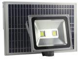 Indicatore luminoso alimentato solare esterno impermeabile di obbligazione di 100W LED, crepuscolo da albeggiare lampada solare bianca dell'indicatore luminoso di inondazione per la parete, patio, giardino