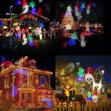 Natal floco impermeável a lâmpada do projector LED de exterior da luz de Jardim