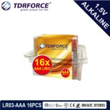 Alkalische Batterij van de Fabriek van China van Mercury&Cadmium de Vrije ultra met de Doos 24PCS van pvc (Grootte LR03/AAA)